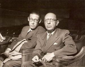 Igor and his eldest son Théodore