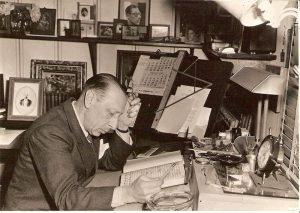 Igor Stravinsky in his study – Hollywood