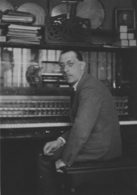 Igor Stravinsky in his Studio Pleyel – 1922